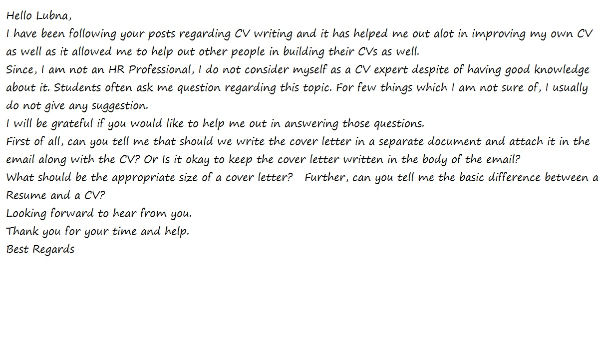 Cover Letter Answering Specific Questions from www.warriorcv.com